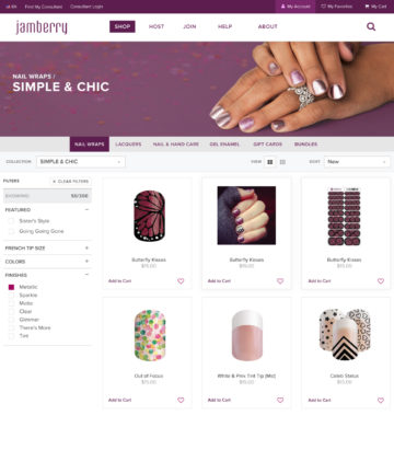 Jamberry Shop Category Collection Header