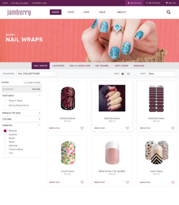 Jamberry Shop Category Header